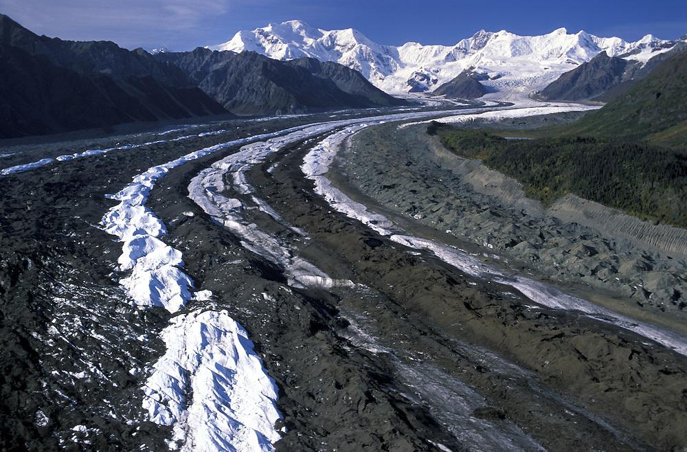 Kennicott Glacier.Wrangell Mountains.Wrangell St.Elias Natl.Park.Alaska.USA