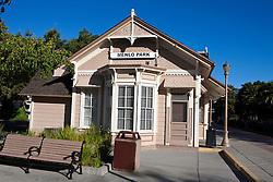 Menlo Park Railroad Station, oldest passenger train station in California, Menlo Park, California, United States of America