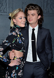Joe Keery and Maika Monroe attend the premiere of IFC Films' 'The Tribes of Palos Verdes' at The Theatre at Ace Hotel on November 17, 2017 in Los Angeles, California. Photo by Lionel Hahn/AbacaPress.com