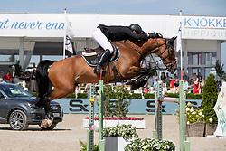 Clee Joe, GBR, Lafayette Van Overis<br /> Grand Prix Henders & Hazel <br /> CSI2* Knokke 2019<br /> © Dirk Caremans<br /> Clee Joe, GBR, Lafayette Van Overis