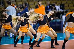 Dancing group Ladies during volleyball match between ACH Volley Ljubljana and Lokomotiv Novosibirsk in 1st Leg, Round #3 of Volleyball Champions League Qualifications 2017/18, on November 8, 2017 in Hala Tivoli, Ljubljana, Slovenia. Photo by Ziga Zupan / Sportida