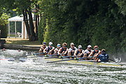 """Henley on Thames, United Kingdom, 4th July 2018, Wednesday, View, Heat of the, """"Temple Challenge Cup,""""Yale University, USA"""", first day of the annual,  """"Henley Royal Regatta"""", Henley Reach, River Thames, Thames Valley, England,© Peter SPURRIER/Alamy Live News,"""