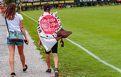 12.07.2017, Sportplatz Buergerau, Saalfelden, AUT, Testspiel, FC Pinzgau vs FC St. Pauli, im Bild St. Pauli Fan mit Flagge // during the Friendly Football Match between FC Pinzgau and FC St. Pauli at the Stadion Buergerau, Saalfelden, Austria on 2017/07/12. EXPA Pictures © 2017, PhotoCredit: EXPA/ JFK