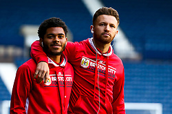 Matty Taylor and Jay Dasilva of Bristol City arrive at the Hawthorns for the Sky Bet Championship fixture against West Bromwich Albion - Mandatory by-line: Robbie Stephenson/JMP - 18/09/2018 - FOOTBALL - The Hawthorns - West Bromwich, England - West Bromwich Albion v Bristol City - Sky Bet Championship