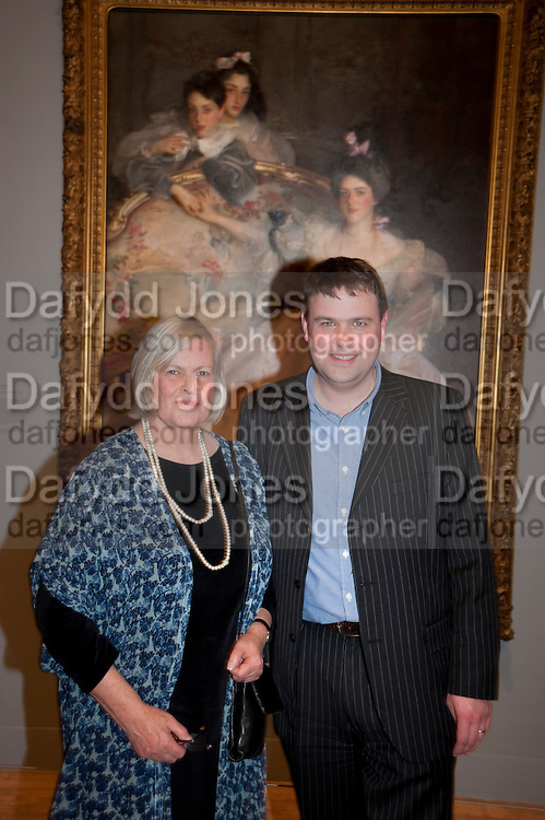 CAROLYN SANDS; DAVID SANDS; Mrs. Carl Meyer and her Children. John Singer Sargent Migrations private view, Tate Britain. London. 30 January 2012.