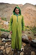 TALIOUINE, MOROCCO - October 25th 2015 - Portrait of a local to Tizgui village, Taliouine and Taroudant Province, Sirwa Mountain Range, Souss Massa Draa, Southern Morocco