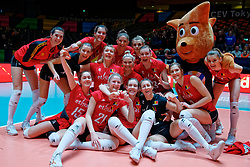 09–01-2020 NED: Olympic qualification tournament women, Apeldoorn<br /> Belgium celebrate after 3-1 win over Croatia