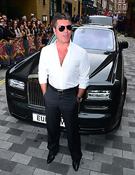 Image ©Licensed to i-Images Picture Agency. 27/08/2014. London, United Kingdom. Simon Cowel arriving for the launch of the new series of The X Factor. Picture by Nils Jorgensen / i-Images