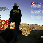 Preservation Magazine story about the lone officer patrolling Joshua Tree National Park.