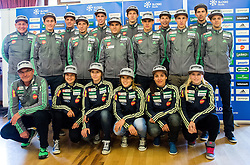 Nordic Ski Jumping team during official presentation of the outfits of the Slovenian Ski Teams before new season 2015/16, on October 6, 2015 in Kulinarika Jezersek, Sora, Slovenia. Photo by Vid Ponikvar / Sportida