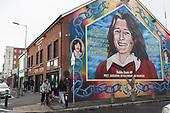 Republican Falls Road IRA Belfast UK Brexitland