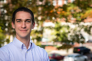 Ohio University College of Business senior, Patrick Burke at Copeland Hall on the Ohio University campus in Athens, Ohio on Oct. 16, 2015.. © Ohio University / Photo by Joel Prince