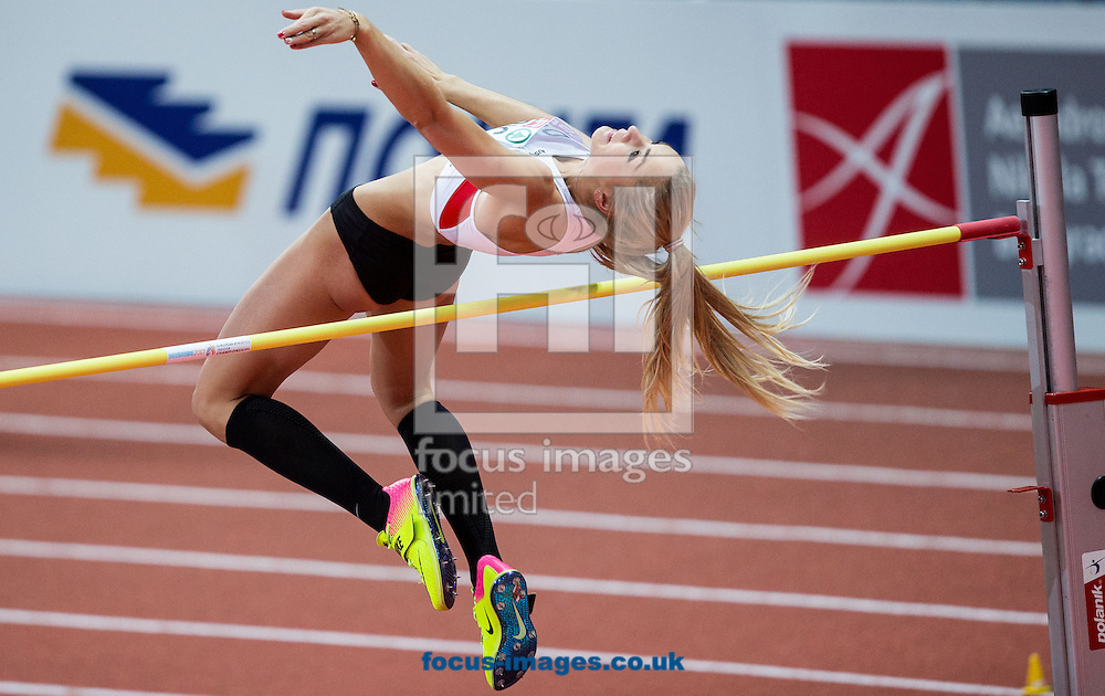 Ivona Dadic of Austria competes in the Pentathlon High Jump Women on day one of the 34th European Indoor Athletics Championships Belgrade 2017 at the Kombank Arena, Belgrade<br /> Picture by EXPA Pictures/Focus Images Ltd 07814482222<br /> 03/03/2017<br /> *** UK &amp; IRELAND ONLY ***<br /> <br /> EXPA-SLO-170303-0022.jpg