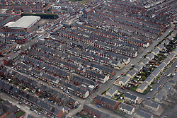 Houses in Belfast, Northern Ireland, on March 28, 2011, Northern Ireland, United Kingdom. (Photo by Vid Ponikvar / Sportida)