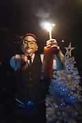 SERVING DRINKS, Daniel Lismore birthday party. Whisky Mist, Hilton Park Lane, London. 19 December 2013