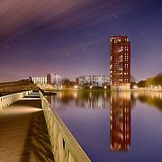 Nachtfotografie Rotterdam Prinsenland Prinsenpark, Parktoren