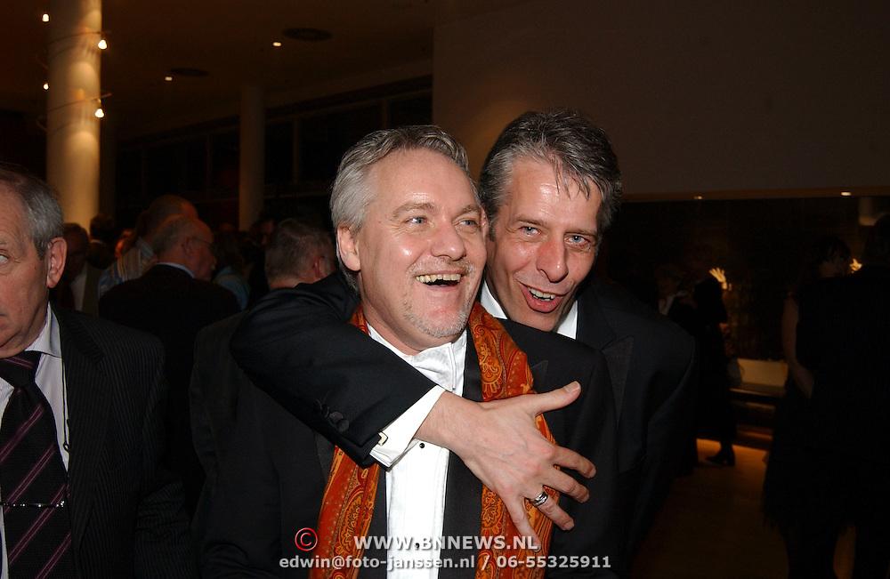 Premiere Songfestival in Concert, Jaap Rijnbende en partner Henk Verhoeven