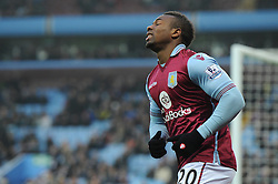 Adama Traore of Aston Villa cuts a dejected figure as he misses a chance - Mandatory byline: Dougie Allward/JMP - 13/12/2015 - Football - Villa Park - Birmingham, England - Aston Villa v Arsenal - Barclays Premier League