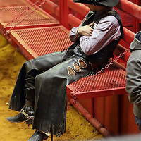 Libby Ezell | BUY AT PHOTOS.DJOURNAL.COM<br /> A Cowboy takes a moment to prepare before his next event