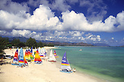 Kailua Beach with Hobie Cats, Oahu, Hawaii<br />
