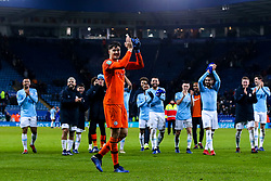 Arijanet Muric of Manchester City and his teammates celebrate their side's win over Leicester City - Mandatory by-line: Robbie Stephenson/JMP - 18/12/2018 - FOOTBALL - King Power Stadium - Leicester, England - Leicester City v Manchester City - Carabao Cup Quarter Finals