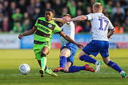 Forest Green Rovers Reece Brown(10) passes the ball forward during the EFL Sky Bet League 2 second leg Play Off match between Forest Green Rovers and Tranmere Rovers at the New Lawn, Forest Green, United Kingdom on 13 May 2019.