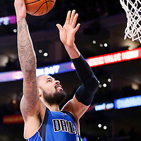 12 April 2014: Dallas Mavericks center Tyson Chandler (6) goes for the layup during the Dallas Mavericks 120-106 victory over the Los Angeles Lakers, at the Staples Center, Los Angeles, California, USA.