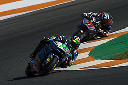 November 12, 2017 - Valencia, Valencia, Spain - 21 Franco Morbidelli (Ita) Eg 0,0 Marc Vds Kalex and #73 Alex Marquez (Spa) Eg 0,0 Marc Vds Kalex during the race day of the Gran Premio Motul de la Comunitat Valenciana, Circuit of Ricardo Tormo,Valencia, Spain. Sunday 12th of november 2017. (Credit Image: © Jose Breton/NurPhoto via ZUMA Press)