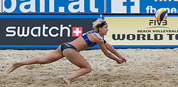 30.07.2014, Strandbad, Klagenfurt, AUT, A1 Beachvolleyball Grand Slam 2014, im Bild Laura LUDWIG 1 GER // during the A1 Beachvolleyball Grand Slam at the Strandbad Klagenfurt, Austria on 2014/07/30. EXPA Pictures © 2014, EXPA Pictures © 2014, PhotoCredit: EXPA/ Mag. Gert Steinthaler