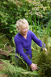 Carol Klein cutting fern fronds