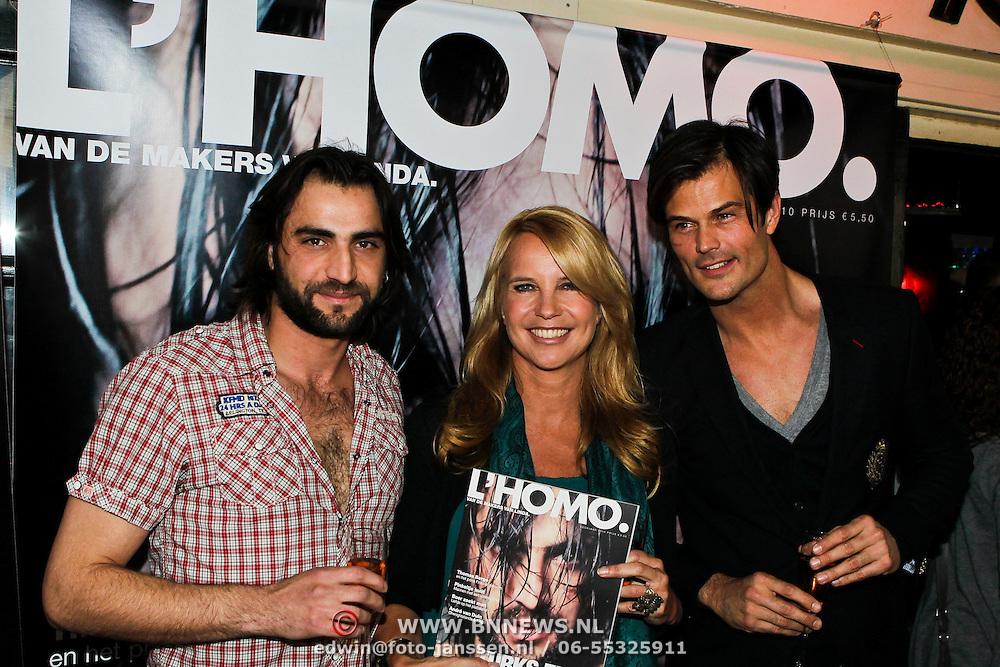 NLD/Amsterdam/20100510 - Presentatie nieuwe editie L'Homo 2010, Arie Boomsma, Orhan Bucakli en Linda de Mol