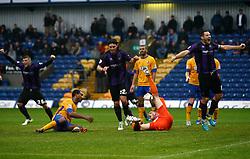 Bristol Rovers' Tom Parkes celebrates the goal - Photo mandatory by-line: Matt Bunn/JMP - Tel: Mobile: 07966 386802 12/10/2013 - SPORT - FOOTBALL - Field Mill - Mansfield - Mansfield Town V Bristol Rovers - Sky Bet League 2