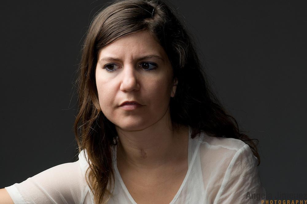 Brooklyn Arts Exchange Artist in Residence Jillian Peña is photographed at BAX on October 21, 2011. ..Photo by Angela Jimenez .www.angelajimenezphotography.com