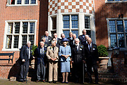 Prinses Beatrix tijdens de reunie van het Genootschap Engelandvaarders. In de Tweede Wereldoorlog staken de verzetsleden met een bootje over naar Engeland en hielpen Nederland mee te bevrijden. <br /> <br /> Princess Beatrix during the reunion of the Society England boaters. In World War II resistance members by boat crossed to England and helped liberate the Netherlands with.<br /> <br /> Op de foto / On the photo:  Prinses Beatrix poseert de met Engeland vaarders / Princess Beatrix poses with the England boaters