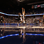Breanna Stewart, UConn, shoots a three during the UConn Vs Cincinnati Quarterfinal Basketball game at the American Women's College Basketball Championships 2015 at Mohegan Sun Arena, Uncasville, Connecticut, USA. 7th March 2015. Photo Tim Clayton