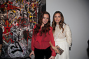 CAMILLA AL FAYED; DASHA ZHUKOVA, Private view of the exhibition ' Mother of Pouacrus' by Nicholas Pol. Presented by Vladimir Restoin Roitfeld. The Old Dairy, Wakefield St.  London. 14 October 2010. <br /> <br /> -DO NOT ARCHIVE-© Copyright Photograph by Dafydd Jones. 248 Clapham Rd. London SW9 0PZ. Tel 0207 820 0771. www.dafjones.com.