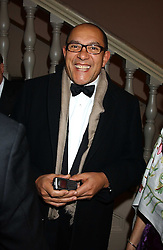 Fashion designer BRUCE OLDFIELD at a dinner attended by the Conservative leader Michael Howard and David Davis and David Cameron held at the Banqueting Hall, Whitehall, London on 29th November 2005.<br />