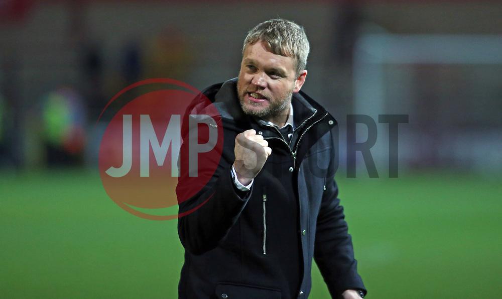 Peterborough United Manager Grant McCann celebrates the victory at full-time - Mandatory by-line: Joe Dent/JMP - 17/12/2017 - FOOTBALL - Highbury Stadium - Fleetwood, England - Fleetwood Town v Peterborough United - Sky Bet League One