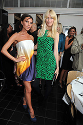 Left to right, VICTORIA BECKHAM and CLAUDIA SCHIFFER  at a dinner hosted by Alexandra Shulman editor of British Vogue in association with Net-A-Porter.com to celebrate 25 years of London Fashion Week and Nick Knight held at Le Caprice, Arlington Street, London on 21st September 2009.