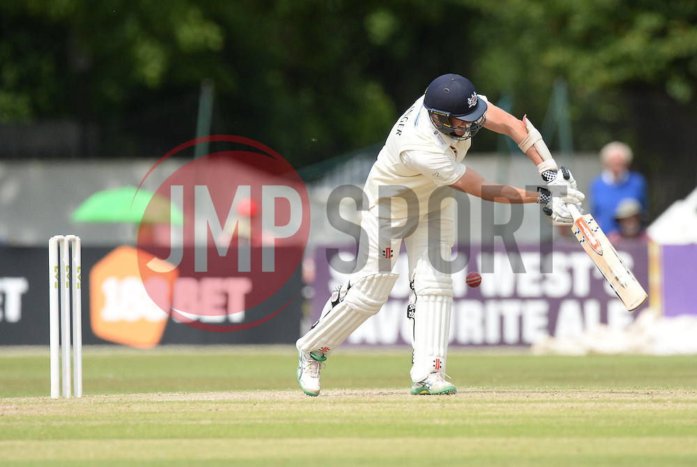 Michael Klinger of Gloucestershire hits the ball. - Photo mandatory by-line: Alex James/JMP - Mobile: 07966 386802 - 17/07/2015 - SPORT - Cricket - Cheltenham - Cheltenham College - Gloucestershire v Leicestershire - LV=County Championship Division 2
