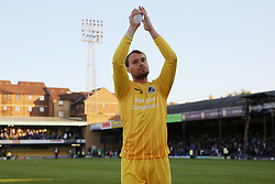 Sam Slocombe of Bristol Rovers applauds the travelling fans following the match - Mandatory by-line: Richard Calver/JMP - 05/05/2018 - FOOTBALL - Roots Hall - Southend-on-Sea, England - Southend United v Bristol Rovers - Sky Bet League One