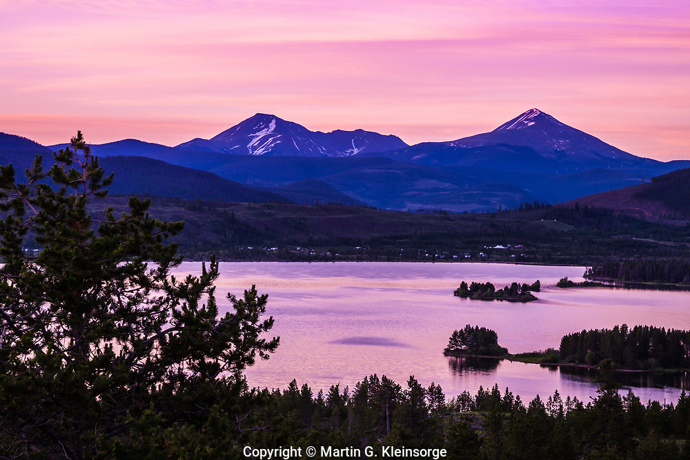 Sunrise over Dillon Reservoir, Colorado.
