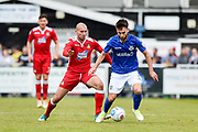 Eastleigh Midfielder, Ben Close (8) holds off Wrexham AFC Midfielder, Russell Penn (16) during the Vanarama National League match between Eastleigh and Wrexham FC at Arena Stadium, Eastleigh, United Kingdom on 29 April 2017. Photo by Adam Rivers.