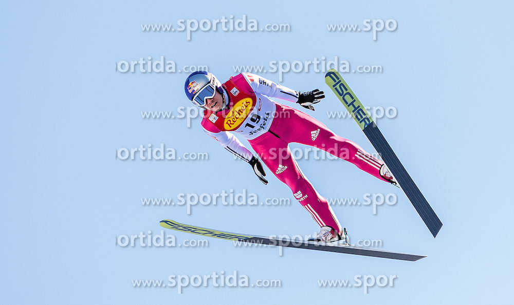 30.01.2016, Casino Arena, Seefeld, AUT, FIS Weltcup Nordische Kombination, Seefeld Triple, Skisprung, Probedurchgang, im Bild Jakob Lange (GER) // Jakob Lange of Germany competes during his Trial Jump of Skijumping of the FIS Nordic Combined World Cup Seefeld Triple at the Casino Arena in Seefeld, Austria on 2016/01/30. EXPA Pictures © 2016, PhotoCredit: EXPA/ JFK