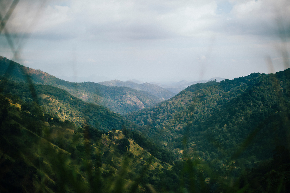 Ella, Sri Lanka -- February 2, 2018: A mountain landscape in hill country in central Sri Lanka.