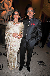 AFTAB JAFFERJEE QC and his wife NAZLI JAFFERJEE at a dinner to celebrate the opening of 'Maharaja - The Spendour of India's Royal Courts' an exhbition at the V&A, London on 6th October 2009.
