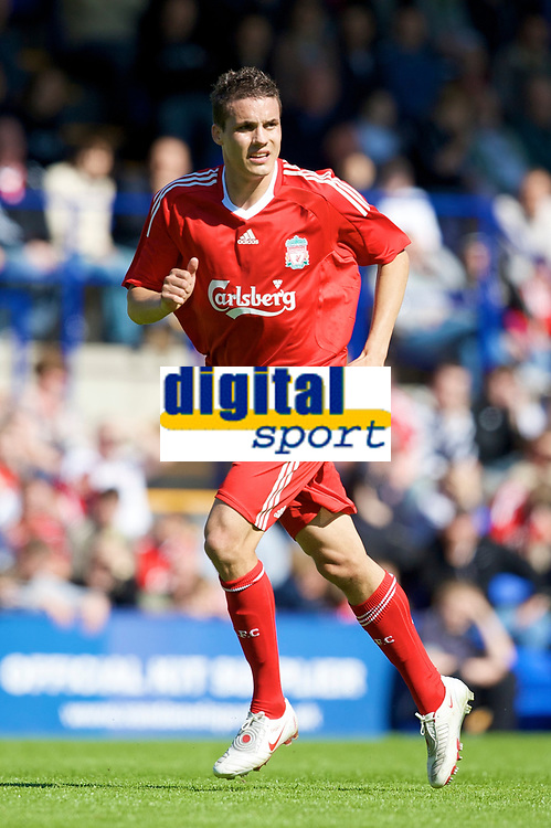 BIRKENHEAD, ENGLAND - Saturday, July 12, 2008: Liverpool's Philipp Degen during his side's first pre-season match of the 2008/2009 season against Tranmere Rovers at Prenton Park. (Photo by David Rawcliffe/Propaganda)