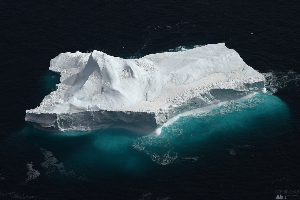 A large iceberg seen off the coast of Ammassalik Island, from the top of Somandsfjeldet