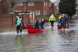 Floods in Purley on Thames, Reading, United Kingdom, Tuesday, 11th February 2014. Picture by i-Images