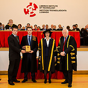 "05/11/2015       <br /> The President of Limerick Institute of Technology (LIT), Dr. Maria Hinfelaar, has warned that without investment in facilities and infrastructure, LIT will struggle to meet the growing demand for skilled graduates as the pace of job creation reaches new levels in Limerick.<br /> Speaking today at the opening ceremony for this year's conferring of 1700 students at LIT, Dr. Hinfelaar, president of one of Ireland's fastest-growing third level institutes, said that LIT is now ""incredibly tight for space and this year the problem is even more acute"".<br /> Dr. Hinfelaar was speaking against the backdrop of over 6,000 new jobs having been announced for Limerick in the past two years.  She said that LIT needed ""a step change in capital funding"" because of heightened industry demand for skilled graduates brought about by the success of the strategy to bring jobs to Limerick.<br /> <br /> The Farm Tractor Machinery Trade Association Award was awarded to Declan Carty for Excellence on the Higher Certificate in Engineering in Agricultural Mechanisation. The award was presented by Dr. Maria Hinfelaar, President LIT and Niall Greene, Chairman LIT Governing Body. Picture: Alan Place/Fusionshooters."